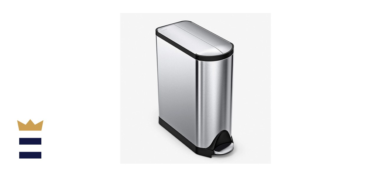 Simplehuman Butterfly Lid Recycling Trash Can
