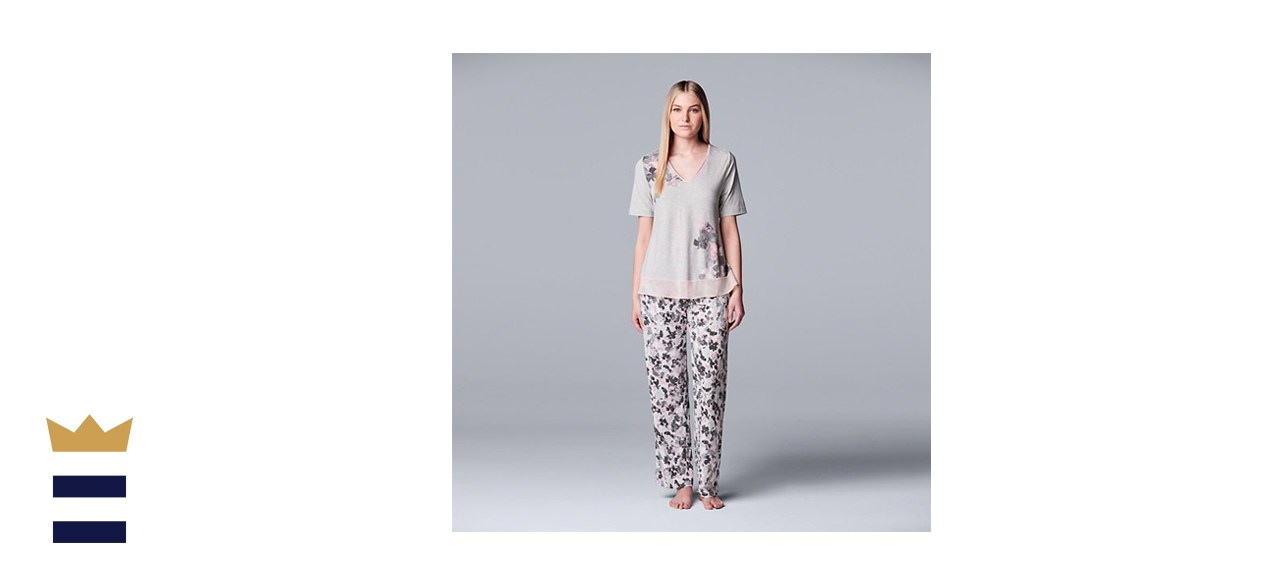 Simply Vera Vera Wang Cozy Short Sleeve Pajama Set