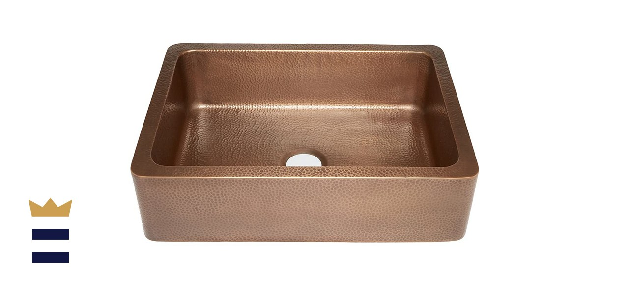 Sinkology Courbet Hammered Copper Farmhouse Sink