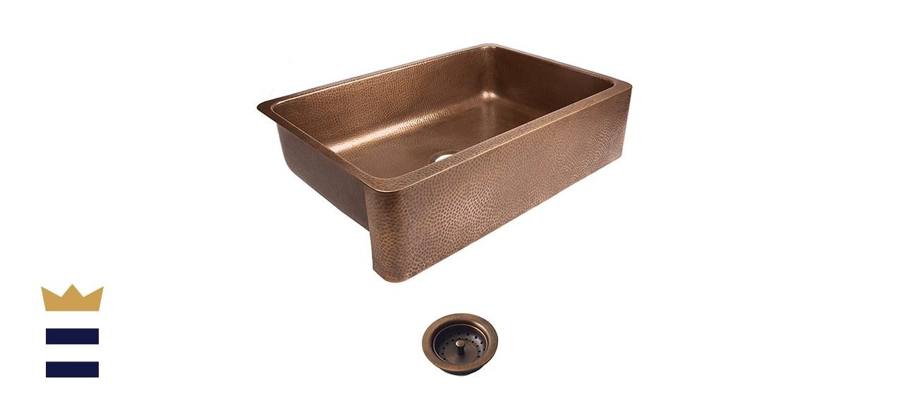 Sinkology Lange Pure Copper Farmhouse Sink
