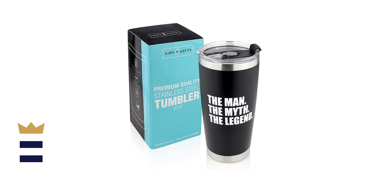 Sips & Gifts The Man, The Myth, The Legend Stainless Steel Tumbler