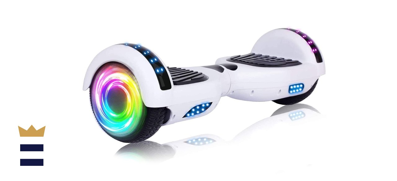 SISIGAD Hoverboard with Bluetooth and Colorful Lights