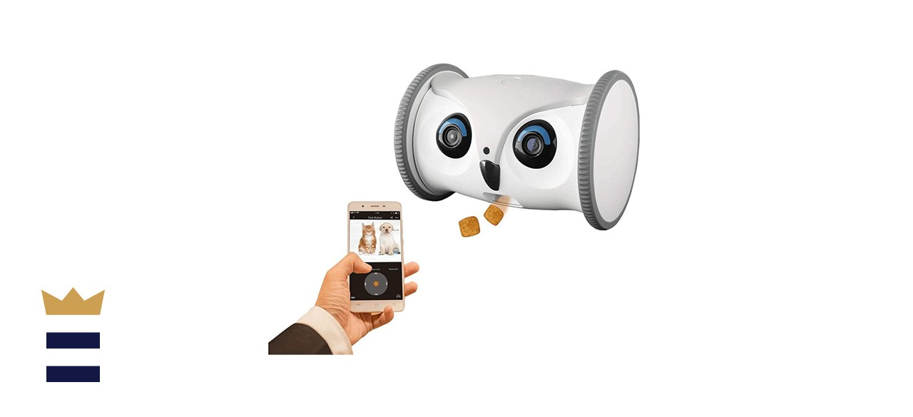 SKYMEE Owl Robot Pet Camera with Treat Feeder