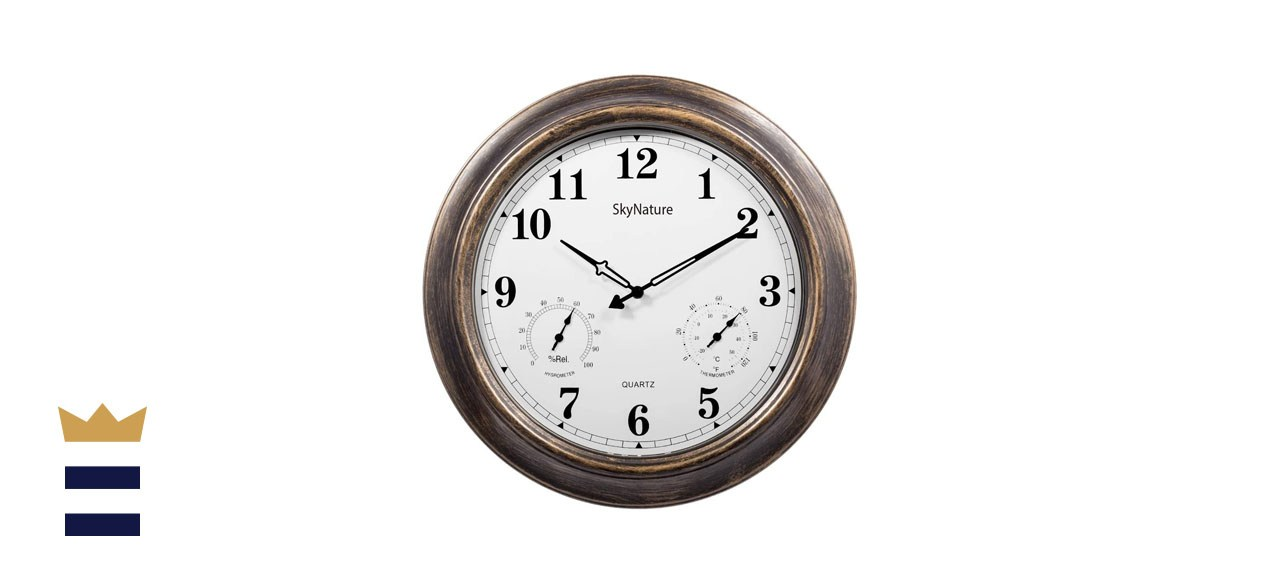 SkyNature 18-Inch Large Outdoor Waterproof Wall Clock