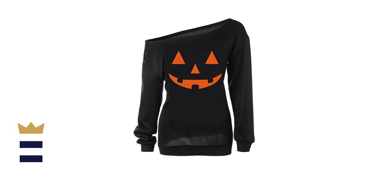 Slouchy Pumpkin Sweatshirt