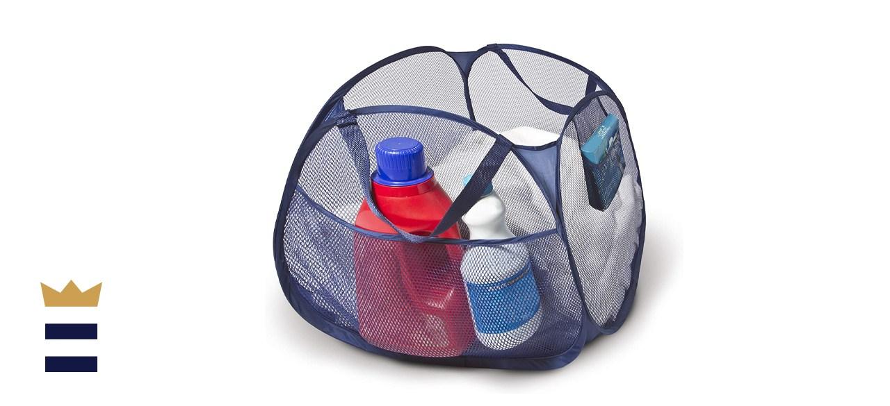 Smart Design Mesh Pop Up Square Laundry Basket