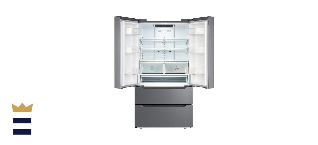 SMETA 36 Inch 22.5 Cu.Ft Counter Depth French Door Refrigerator Bottom Freezer