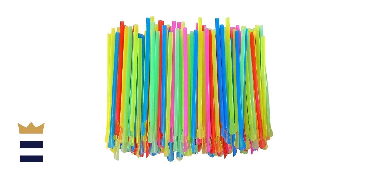 Sno-Cone Spoon Straws