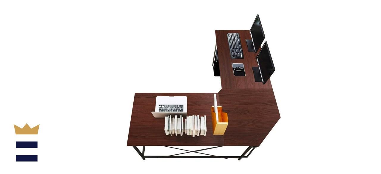 Soges Large L-Shaped Computer Desk