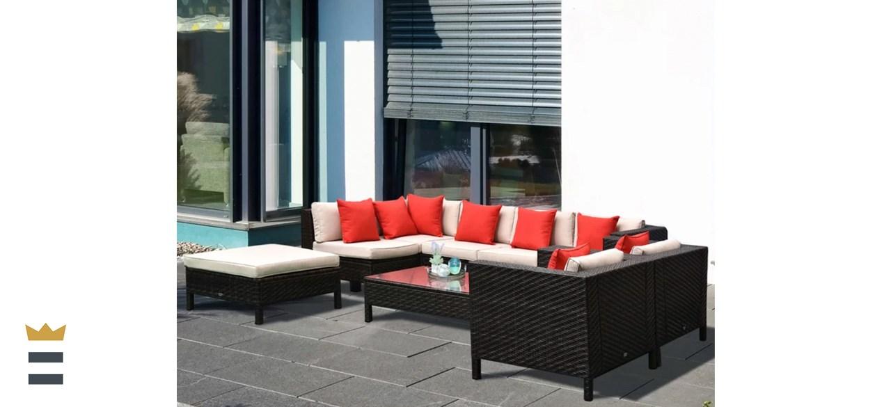 Sol 72 Outdoor Lutie Rattan Sectional Set