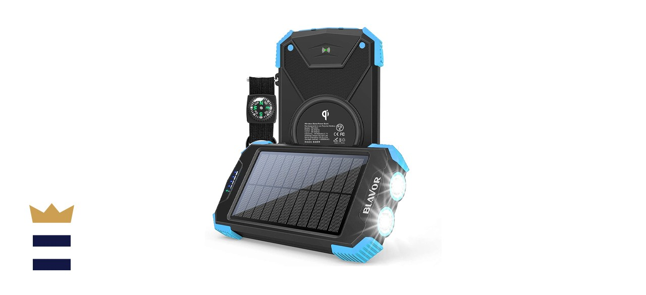 Solar Charger Power Bank, Qi Wireless Charger