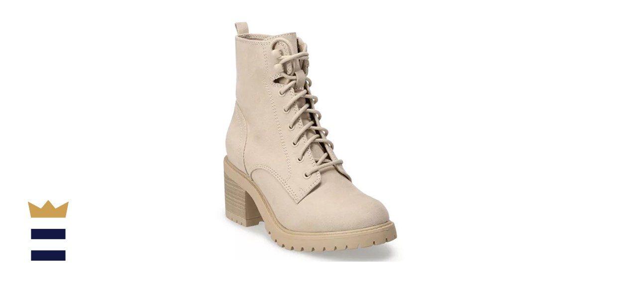 Sonoma Goods For Life Spotted Women's High Heel Combat Boots