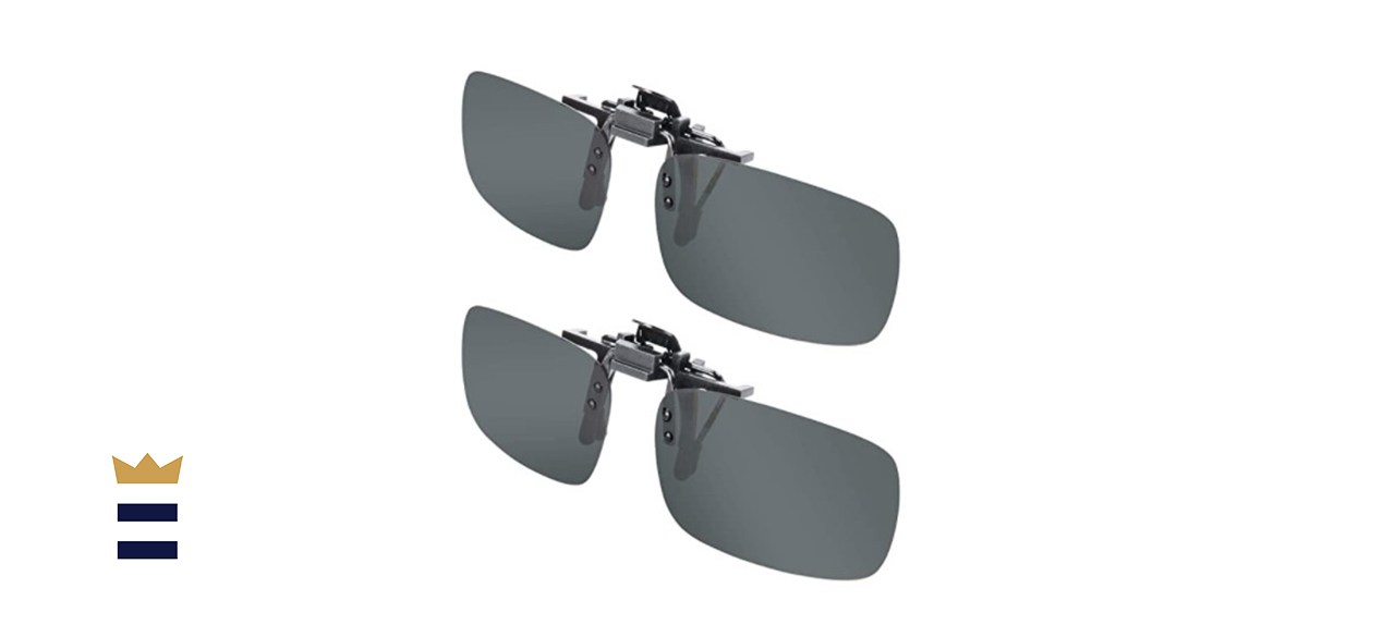 Splaks Unisex Polarized Frameless Rectangle Lens