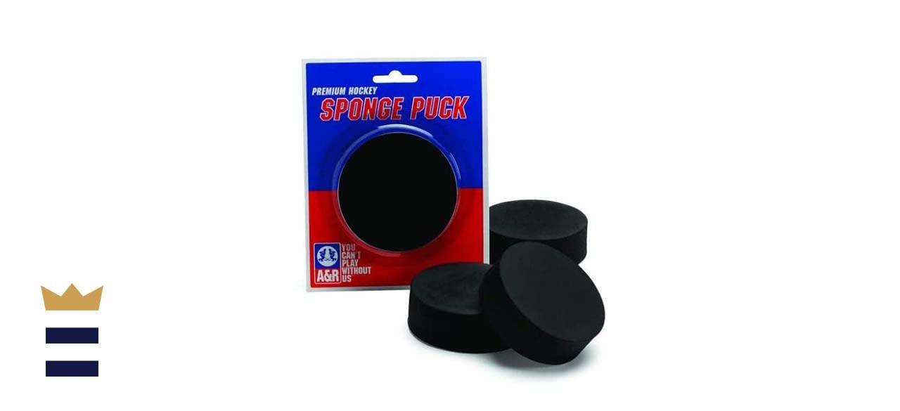 sponge hockey pucks