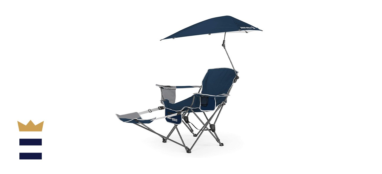 Sport-Brella 3-Position Recliner Chair with Removable Umbrella