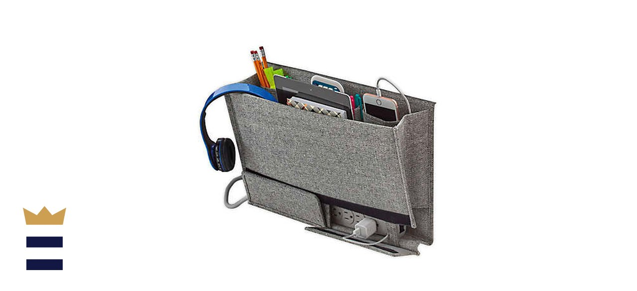 Squared Away Arrow Weave Bedside Caddy in Grey