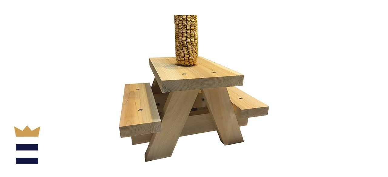 Squirrel Picnic Table Feeder