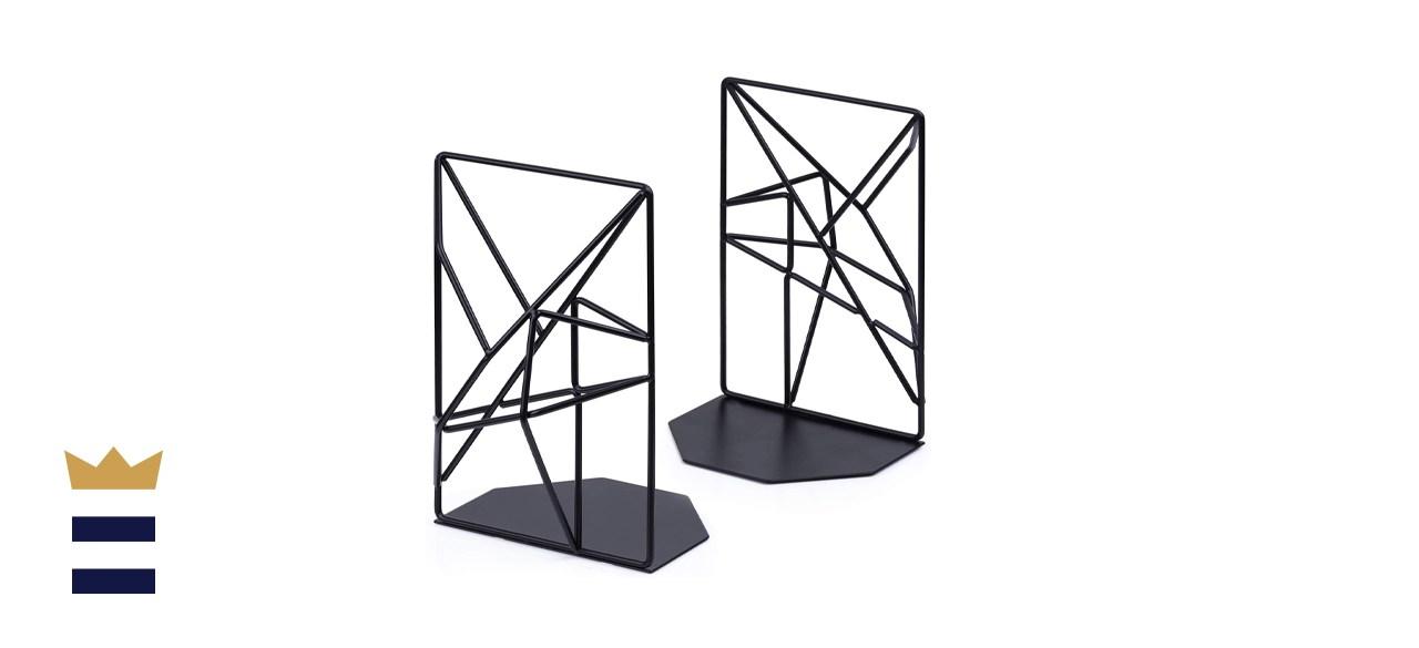 SRIWATANA Decorative Metal Black Bookends