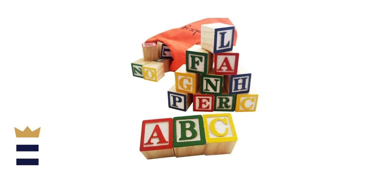 Skoolzy ABC Wooden Blocks for Toddlers