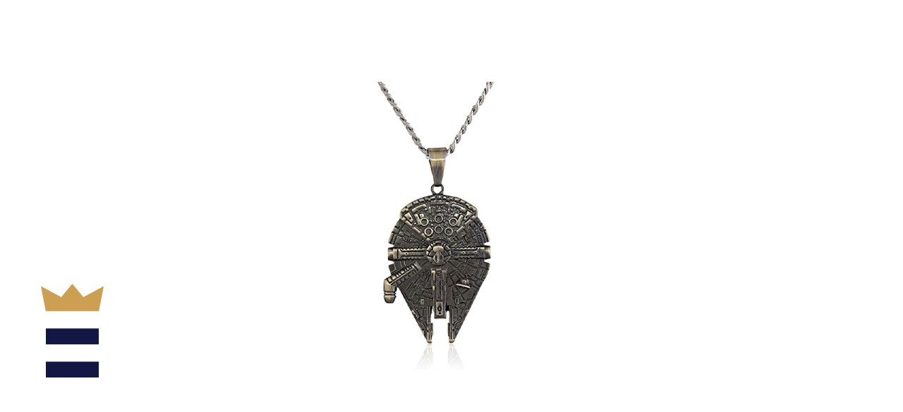 Star Wars Stainless Steel Millennium Falcon Pendant Necklace