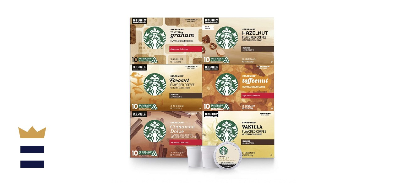 Starbucks Flavored K-Cup Coffee Pods Variety Pack