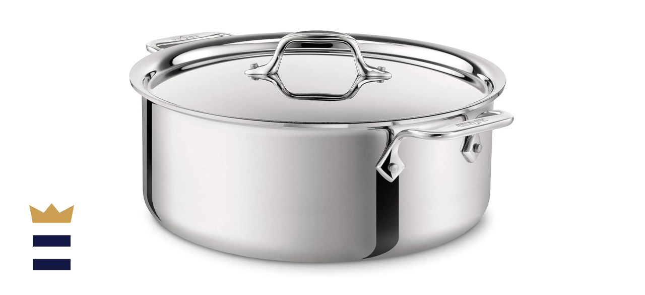 All-Clad Stainless Steel Tri-Ply Bonded Dishwasher Safe Stockpot
