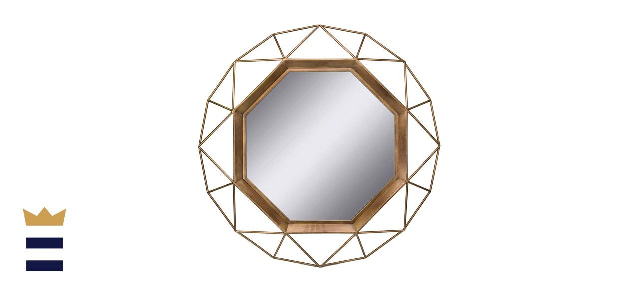 Stonebriar Gold Geometric Wall Mirror