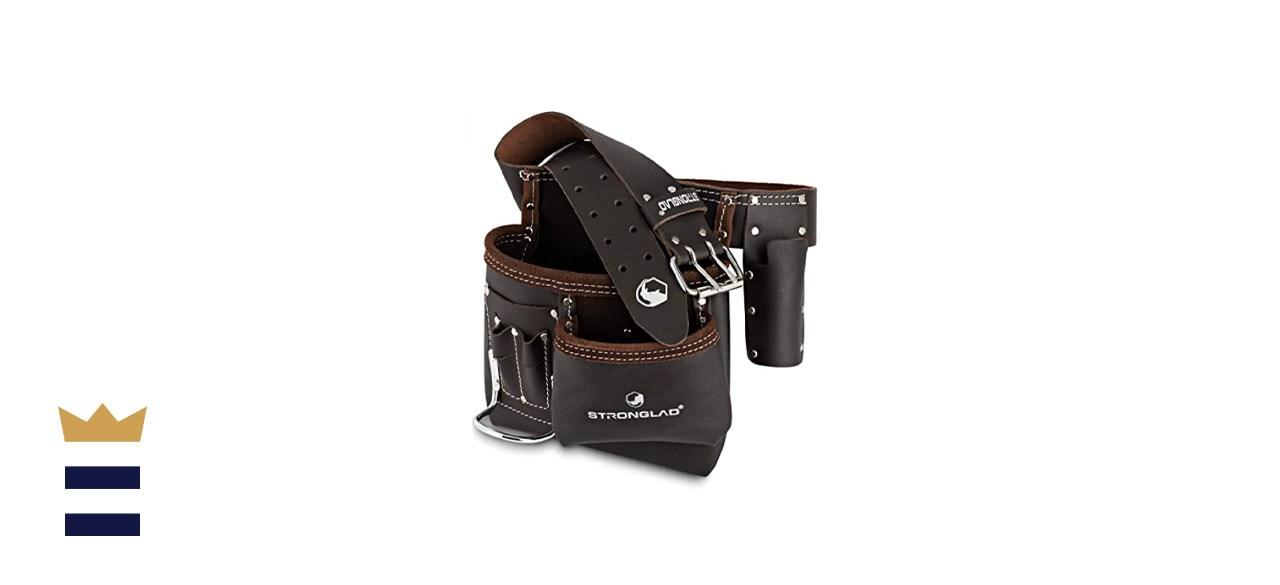 STRONGLAD 5 Pocket Single Side Oil Tanned Leather Tool Belt