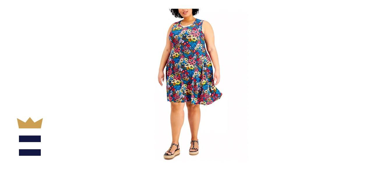 Style & Co Plus-Size Floral-Print Flip Flop Dress