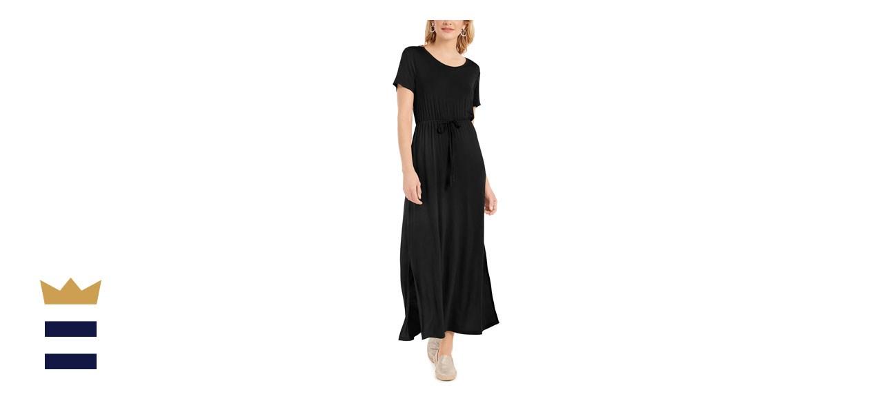 Style & Co Tie-Waist Maxi Dress