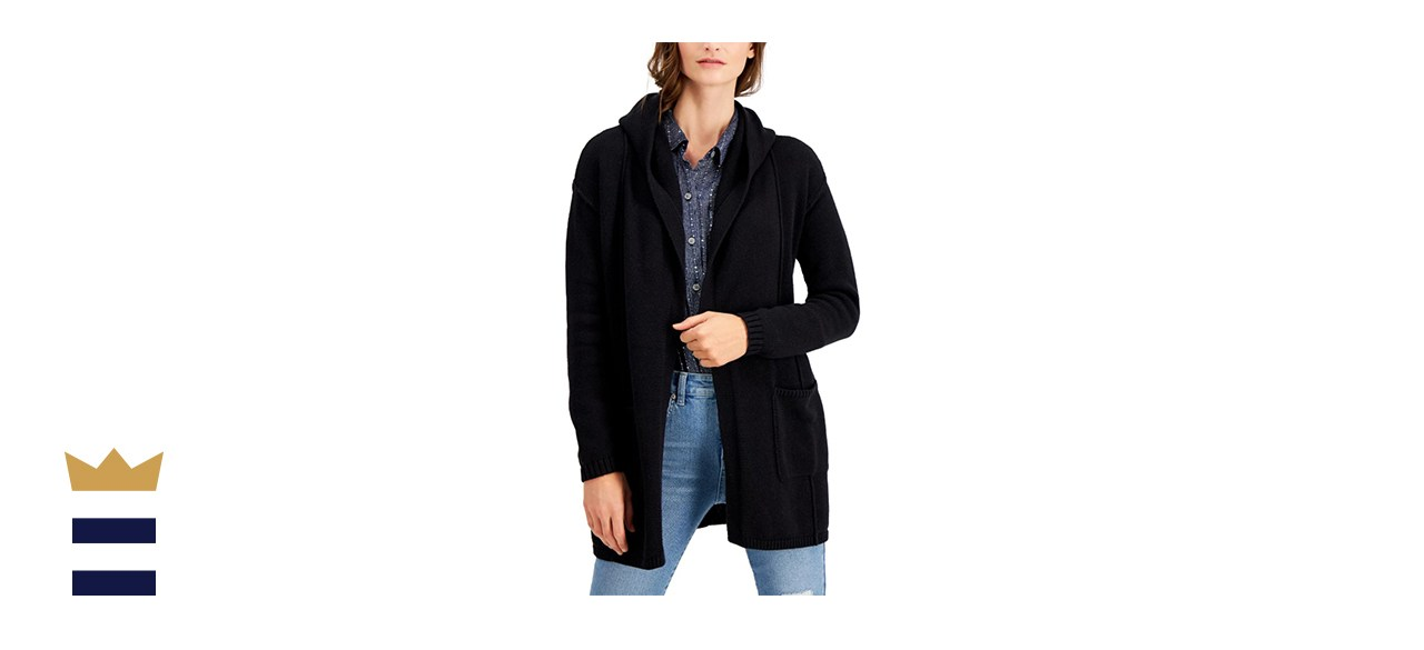 Style & Co Hooded Cardigan