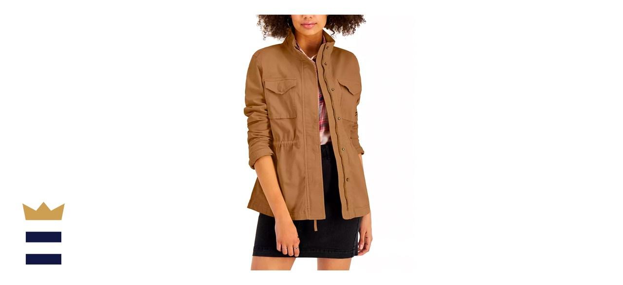 Style & Co Petite Cotton Utility Jacket