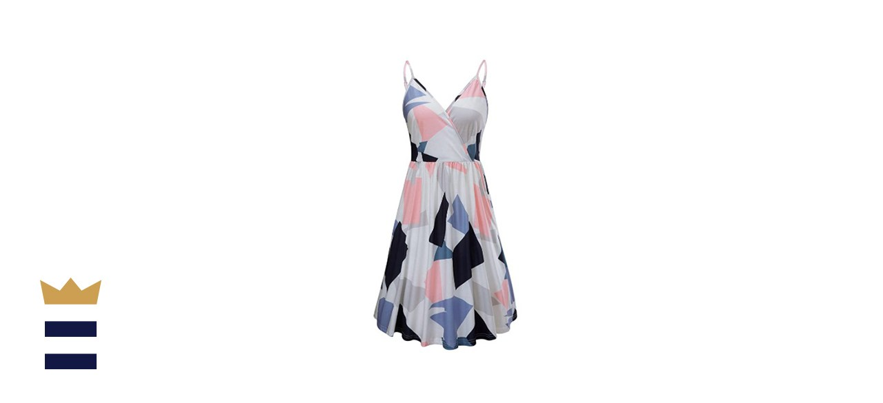 STYLEWORD Patterned Summer Dress with Pocket