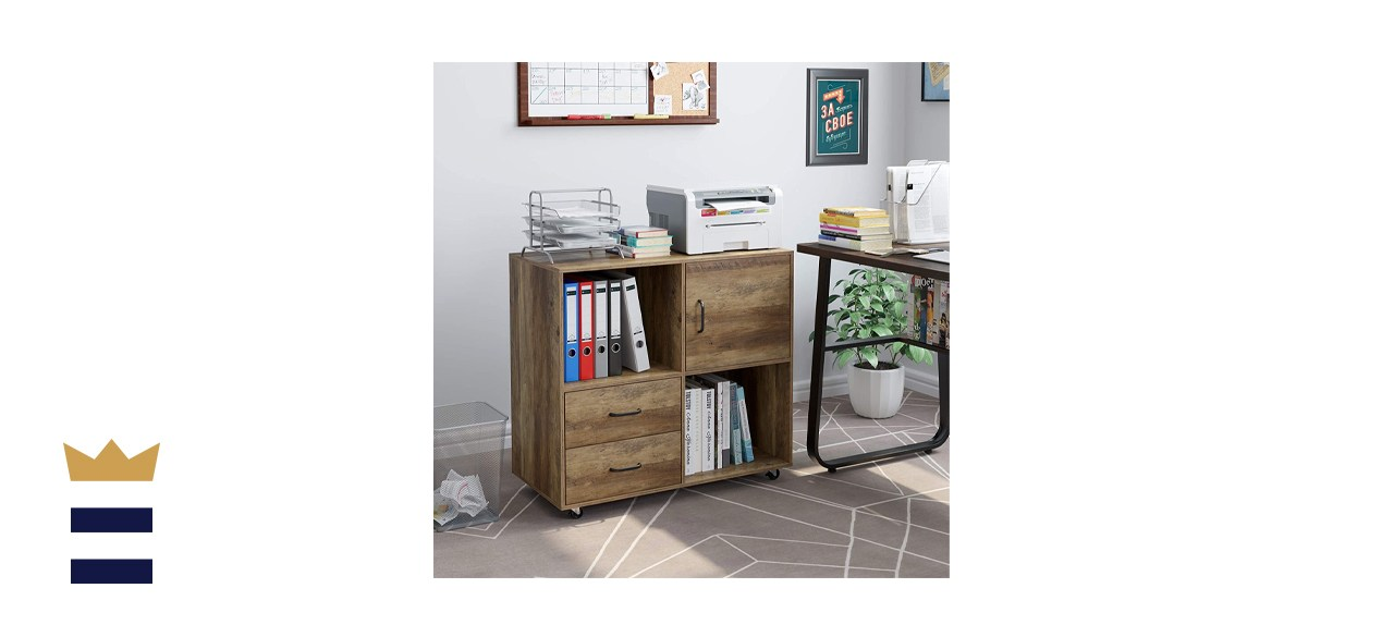 HOMECHO Lateral File Cabinet with 2 Drawers