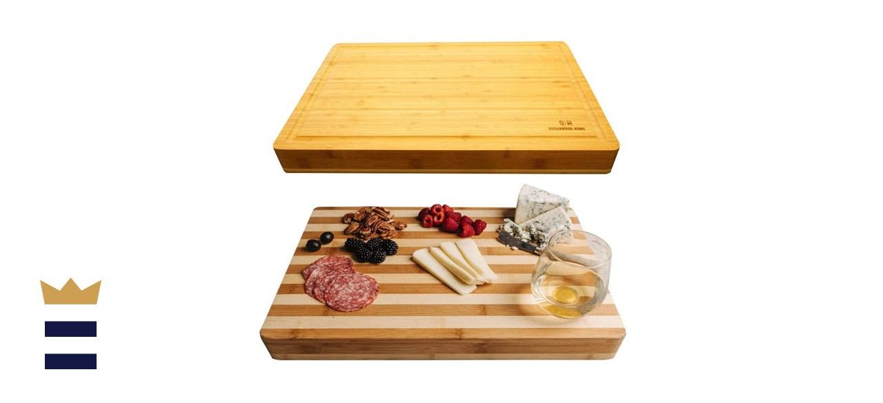 Sugarwood Home Reversible Butcher Block Cutting Board