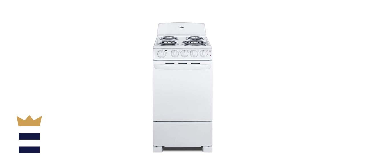 Summit Appliance RE203W 20 Inch Electric Coil Range