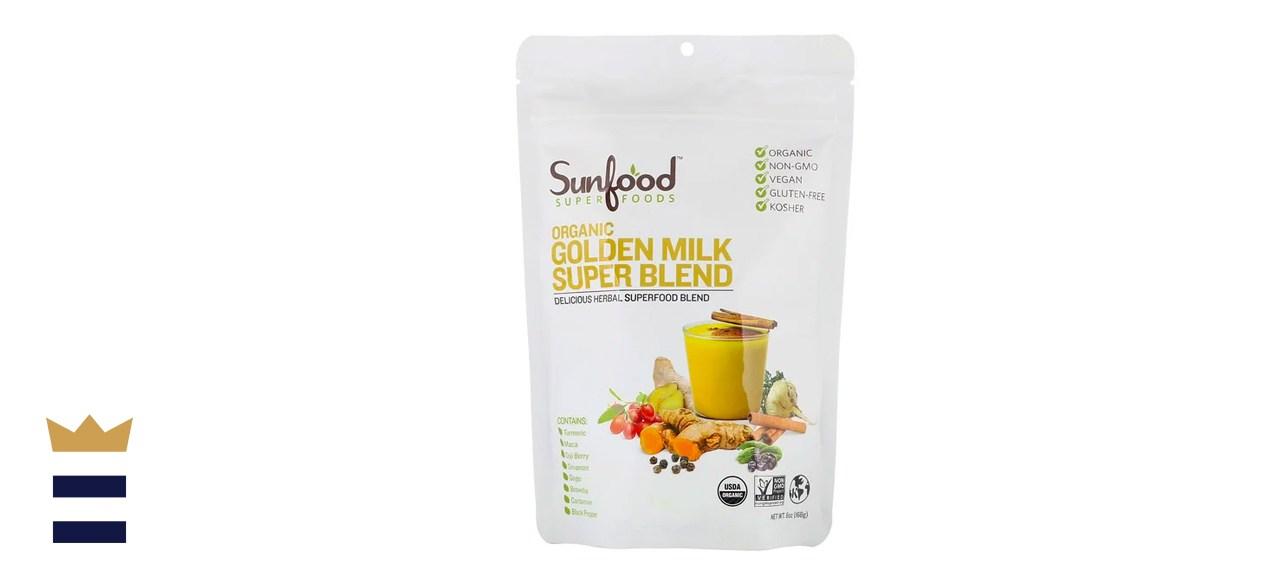 Sunfood Organic Golden Milk Super Blend Powder