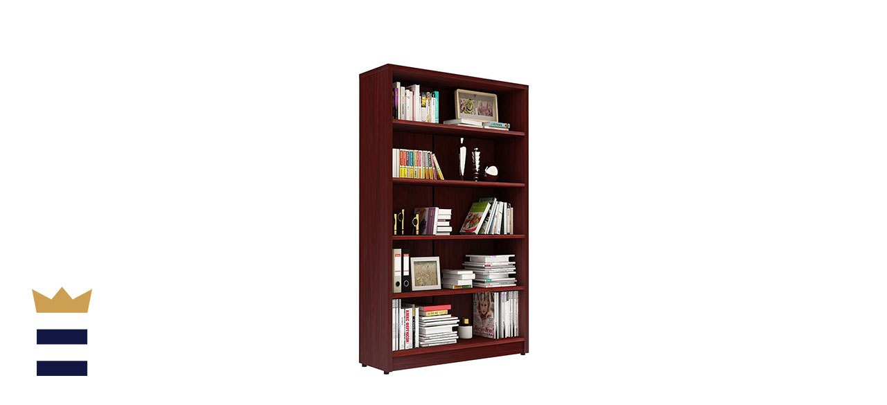 Sunon Collection 5-Shelf Wood Bookcase