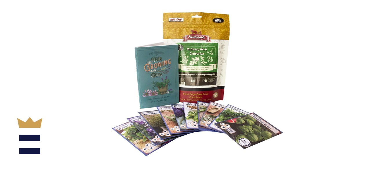 Sustainable Seed Company 10 Non-GMO Herb Garden Kit