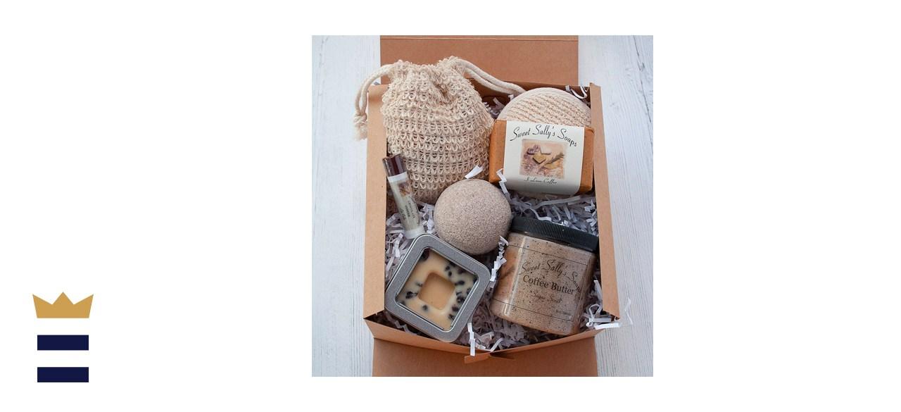 SweetSallysSoaps Coffee Self Care Spa Gift Set