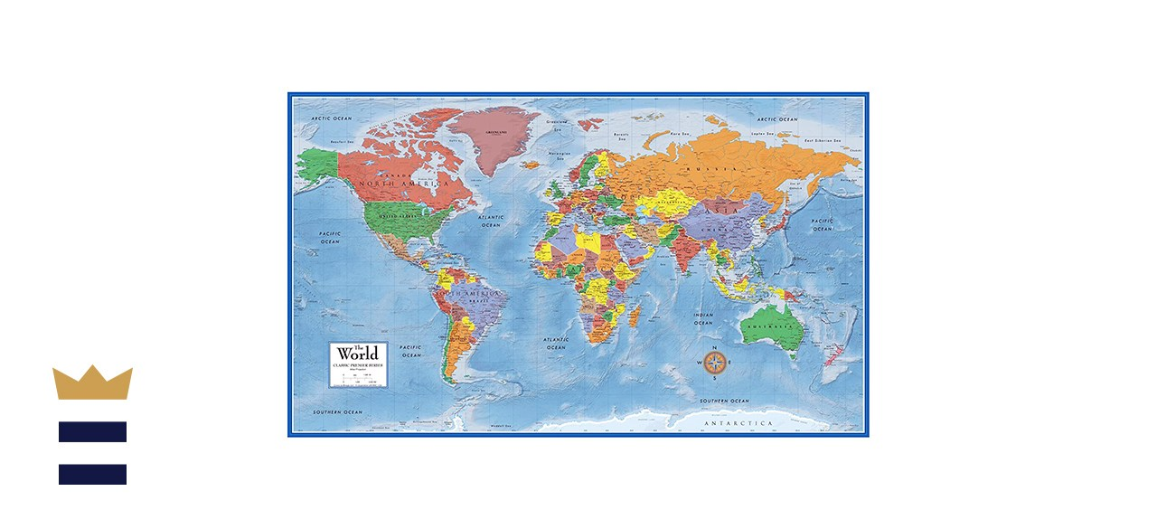 Swiftmaps World Classic Premier Wall Map Poster
