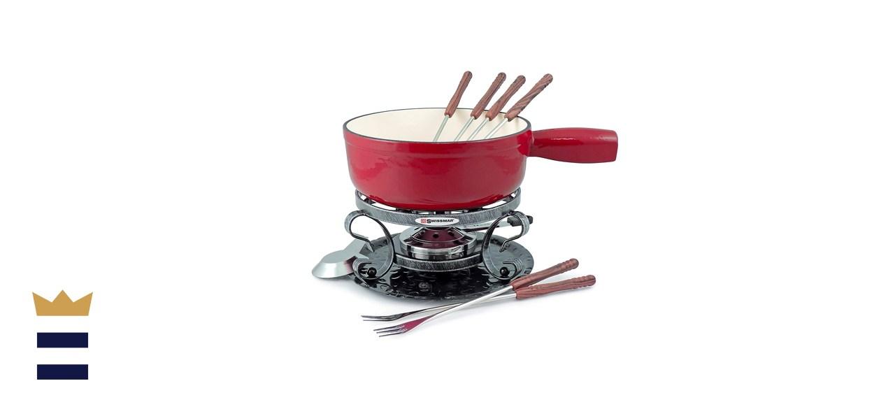Swissmar Lugano 2-Quart Cast Iron Cheese Fondue Set