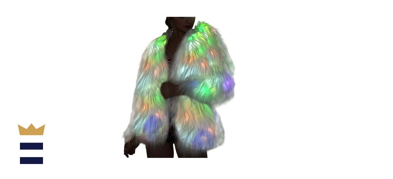 SZTOPFOCUS LED Fur Coat