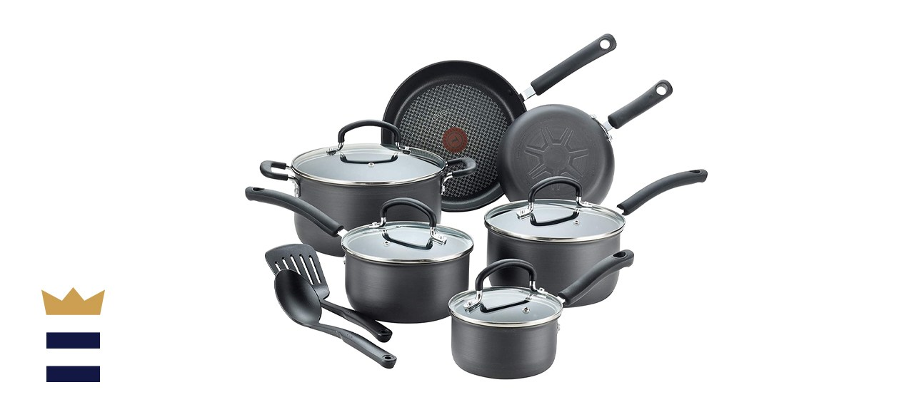 T-Fal Ultimate hard-anodized non-stick cookware set