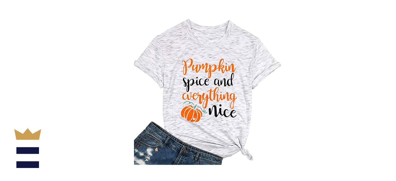 Pumpkin Graphic Letter Print T-Shirt