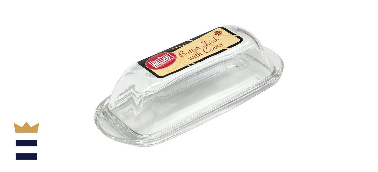 Tablecraft Clear Glass Butter Dish