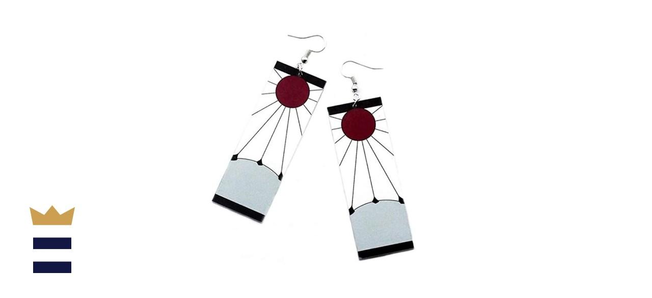 Tanjiro & Hanafuda Acrylic Cosplay Earrings