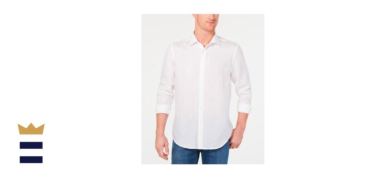 Tasso Elba Long-Sleeve Linen Shirt
