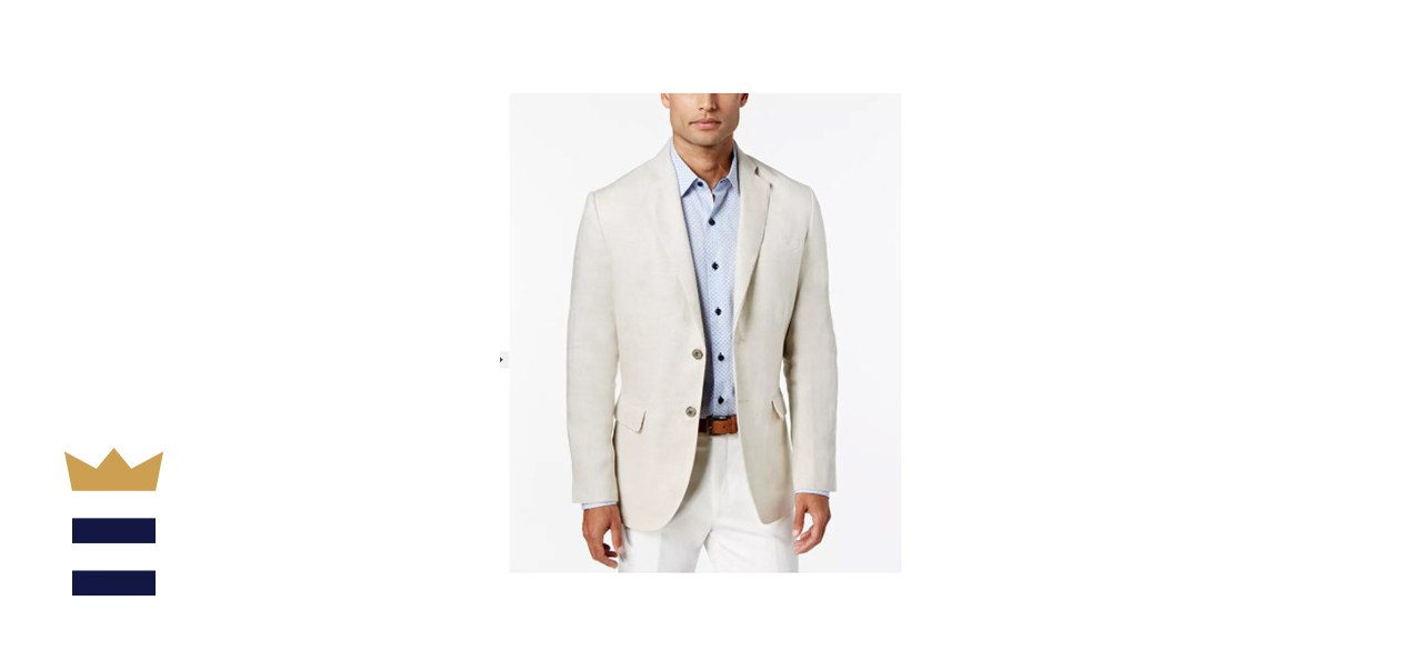 Tasso Elba Men's 100% Linen 2-Button Blazer