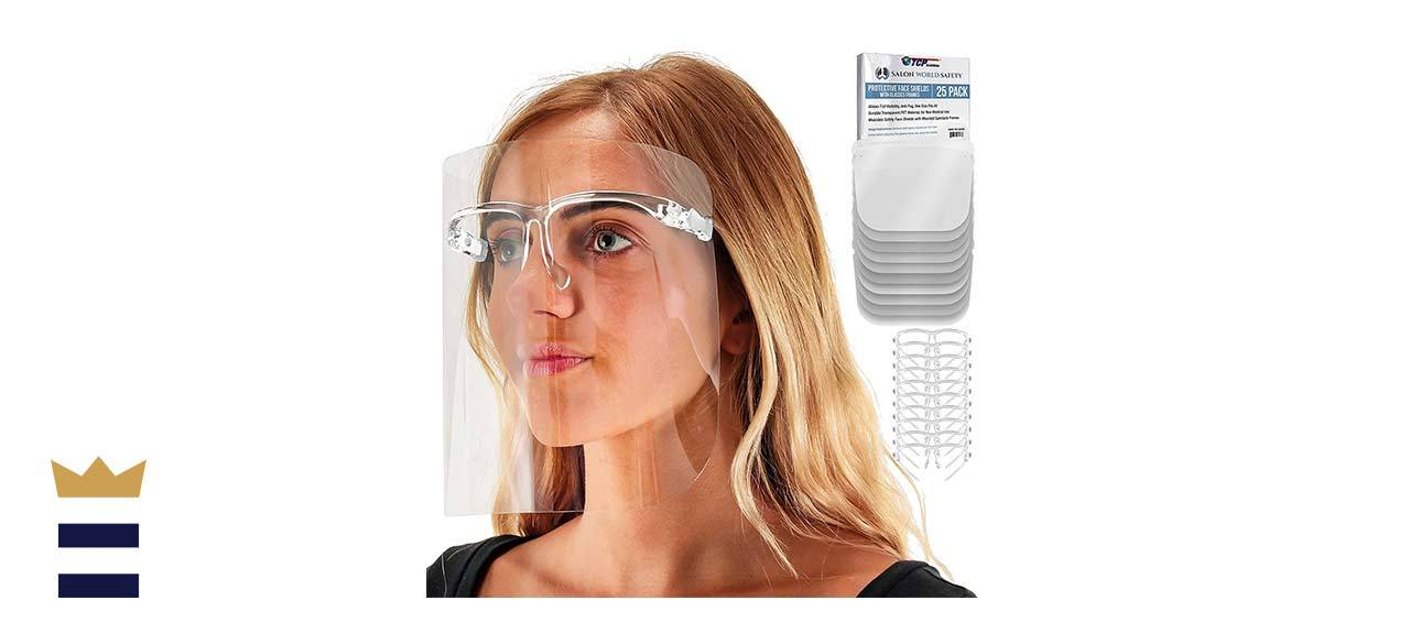 TCP Global Salon World Safety Face Shields with Glasses Frames